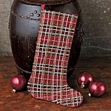 Gump's Beaded Plaid Stocking
