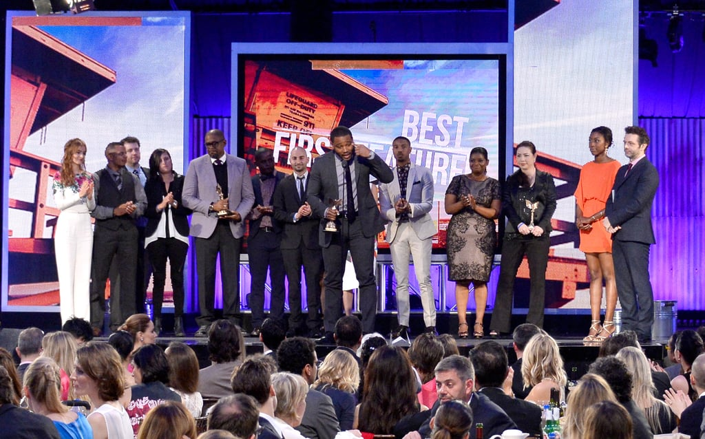 Michael took the stage by storm with his Fruitvale Station director and writer Ryan Coogler, producer Forest Whitaker, and costars Octavia Spencer and Ahna O'Reilly after the film won the best first feature award.