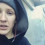 Ellie Goulding showcased her love for running in her new Nike campaign, but she got real about Winter jogs on Instagram!