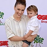 Alyssa Milano and a very smiley Milo Langdon joined in Rachel Zoe's Mother's Day garden party event.  Source: Instagram user milano_alyssa