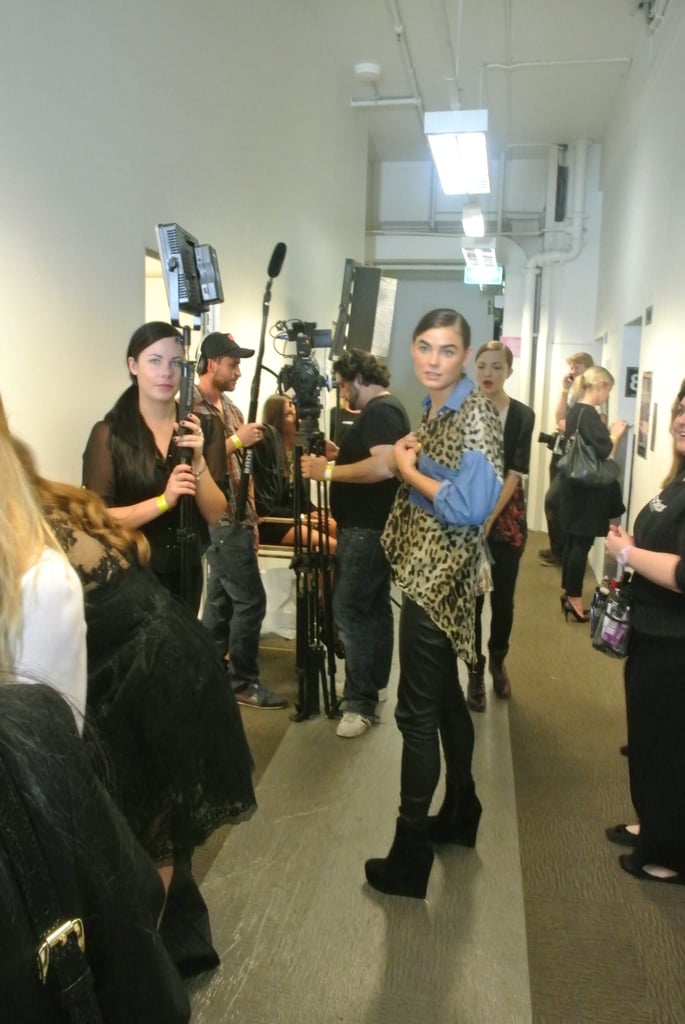 We ran into Bambi Northwood-Blyth backstage.