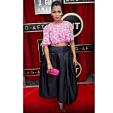 Kerry Washington posed for a picture on the SAG Awards red carpet. Source: Instagram user kerrywashington