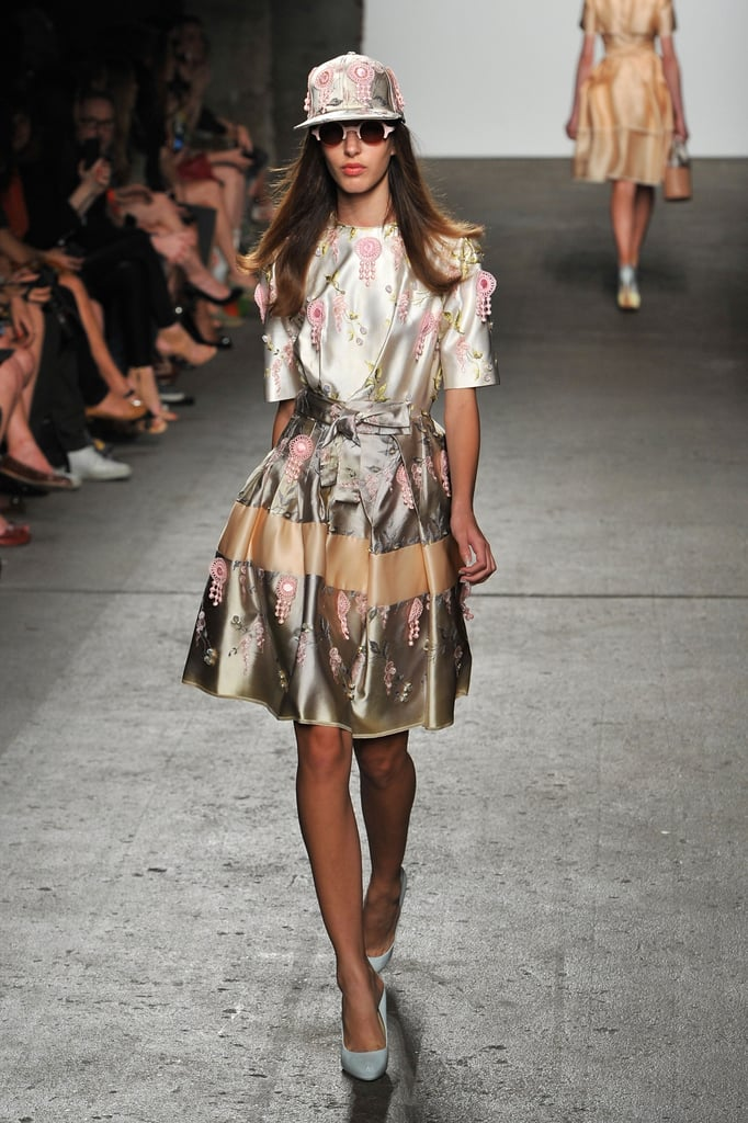 A girlie dress and New Era cap for Alexandre Herchcovitch Spring 2012.
