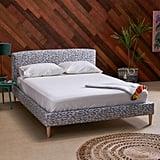 Crescent Moon Upholstered Platform Bed