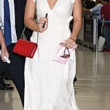 Margot Robbie Wears Reformation Dress at the Airport