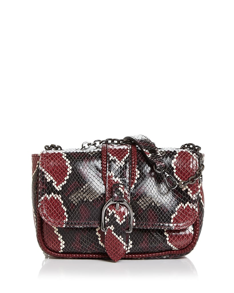Shop It  Longchamp Amazone Mini Convertible Python-Embossed Leather Shoulder  Bag 312865f77d74f