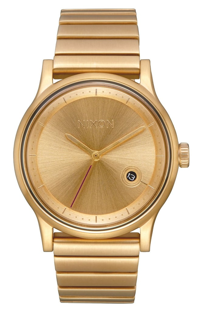 Is it a bracelet or a watch? The gold Nixon Station Bracelet Watch ($250) seems to be both.
