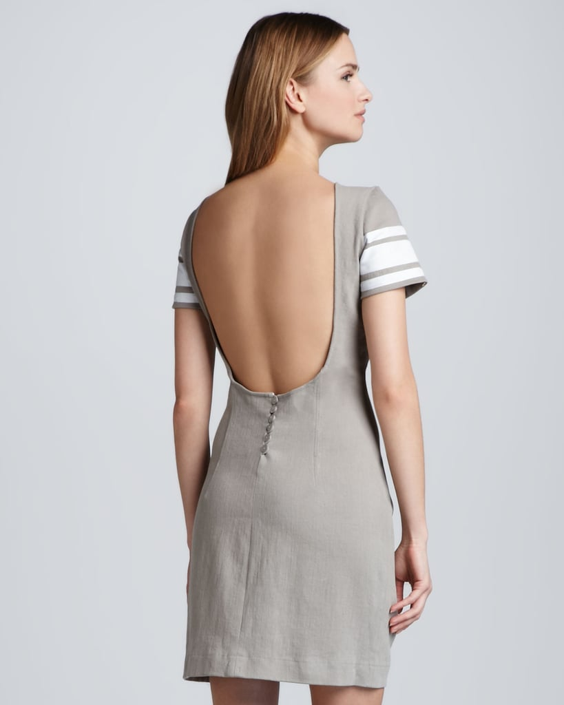 Pencey Open-Back Varsity Stripe Dress ($75, originally $216)