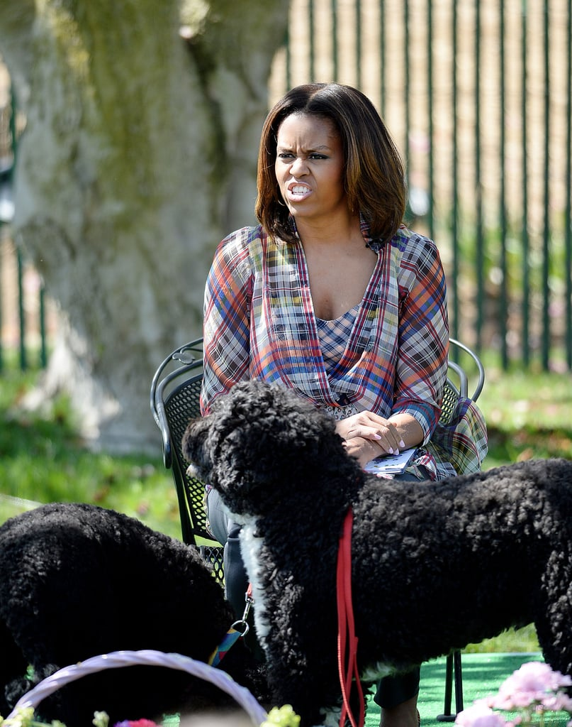 Michelle got animated for story time too.