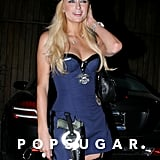 Paris Hilton did her best police officer impression at an LA party in 2006.