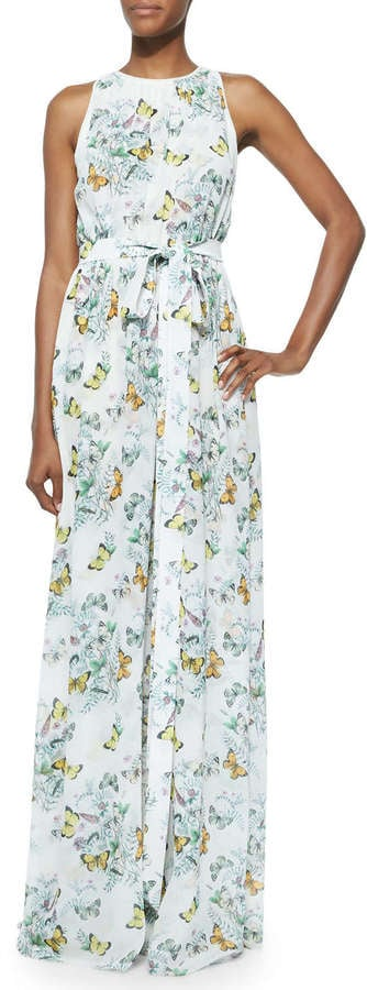 ERIN erin fetherston Ava Sleeveless Butterfly-Print Maxi Dress ($355)