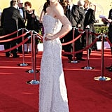 Julianna Margulies Wows in White Calvin Klein at the SAGs