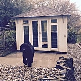 A hot-tub shed can be shut and locked when not in use.
