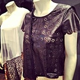 How adorable is this laser-cut leather top from Victoria's Secret? We're suckers for a scalloped edge.