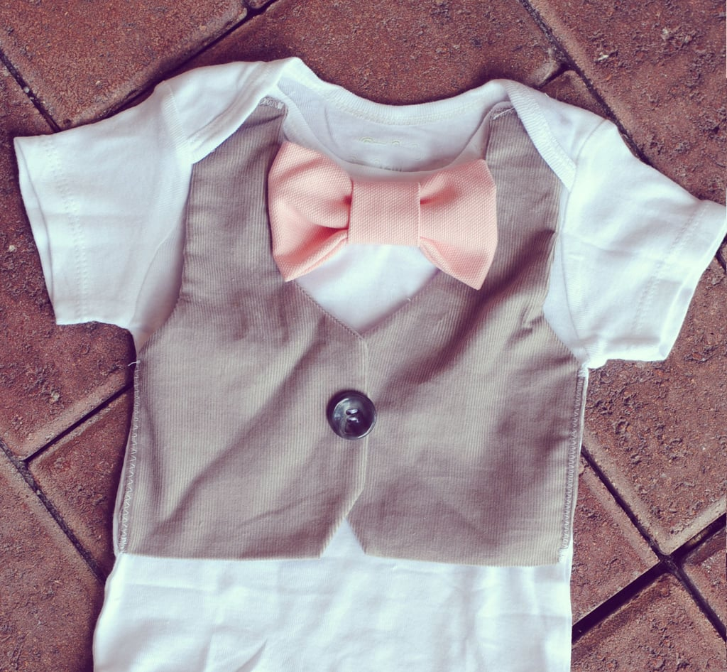 Vest and Bow Tie Onesie