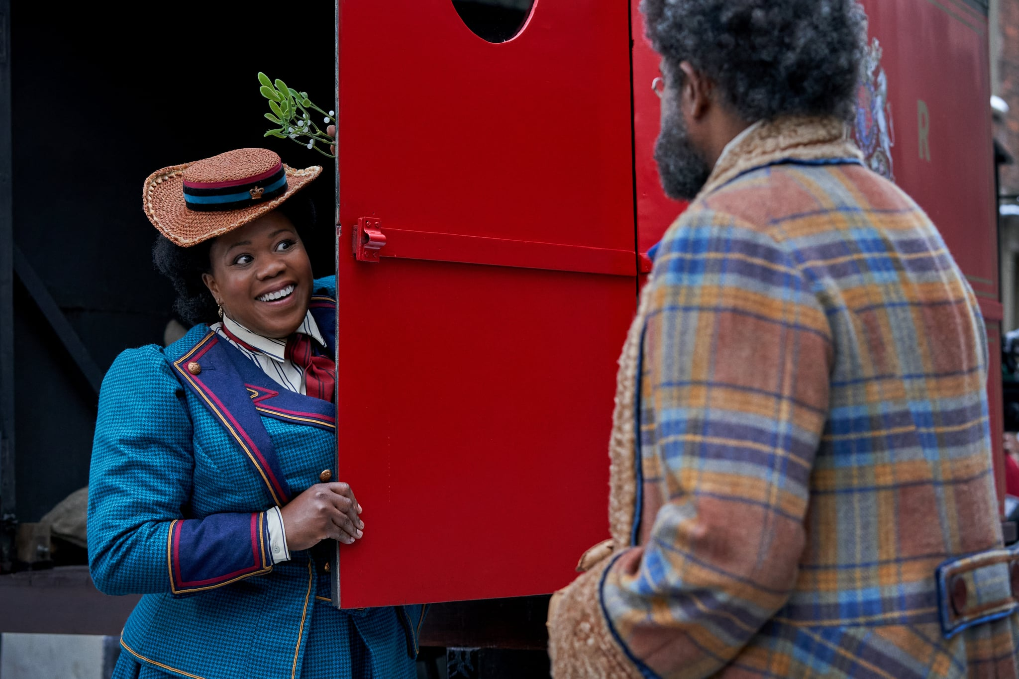 JINGLE JANGLE: A CHRISTMAS JOURNEY (2020) Lisa Davina Phillip as Ms. Johnston and Forest Whitaker as Jeronicus Jangle.  Cr. Gareth Gatrell/NETFLIX