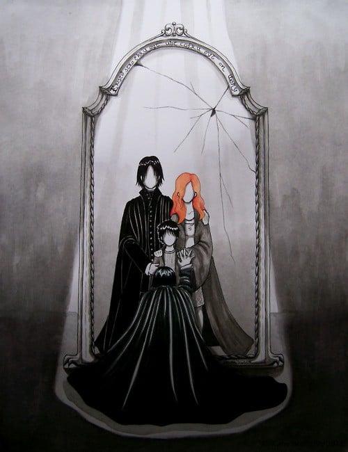 Snape 39 s mirror of erised harry potter fan art popsugar for Miroir du rised