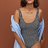 H&M Striped Swimsuit