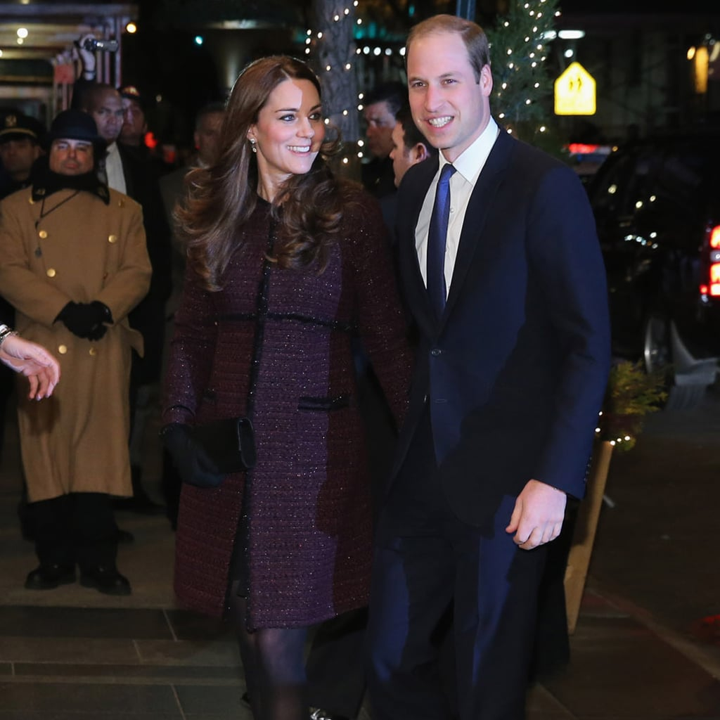 Kate Middleton Pregnant Wearing Seraphine Coat in New York