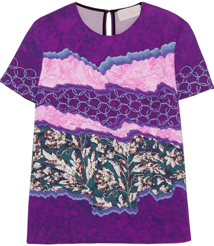 Peter Pilotto Printed Stretch-Cady Top