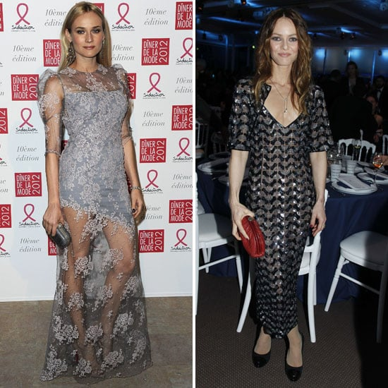Diane Kruger and Vanessa Paradis Get Glam For the Annual Sidaction Dinner