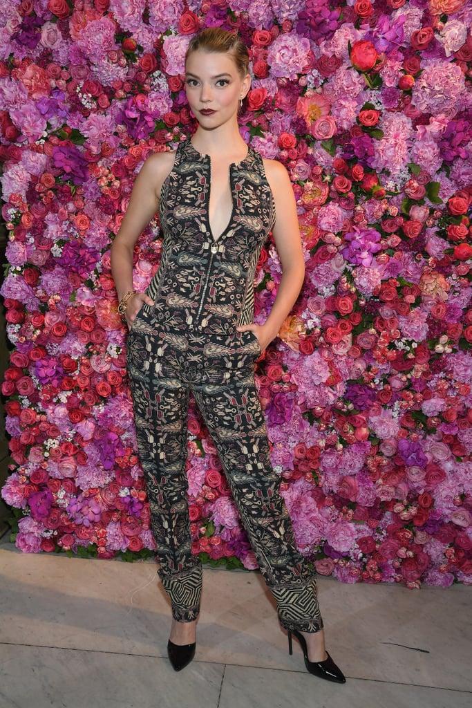 Anya Taylor-Joy at Paris Fashion Week in 2018