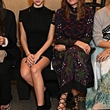 Hermione Corfield and Yasmin Le Bon at Christopher Kane