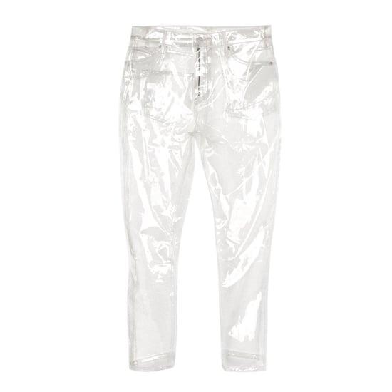 Topshop Clear Plastic Jeans