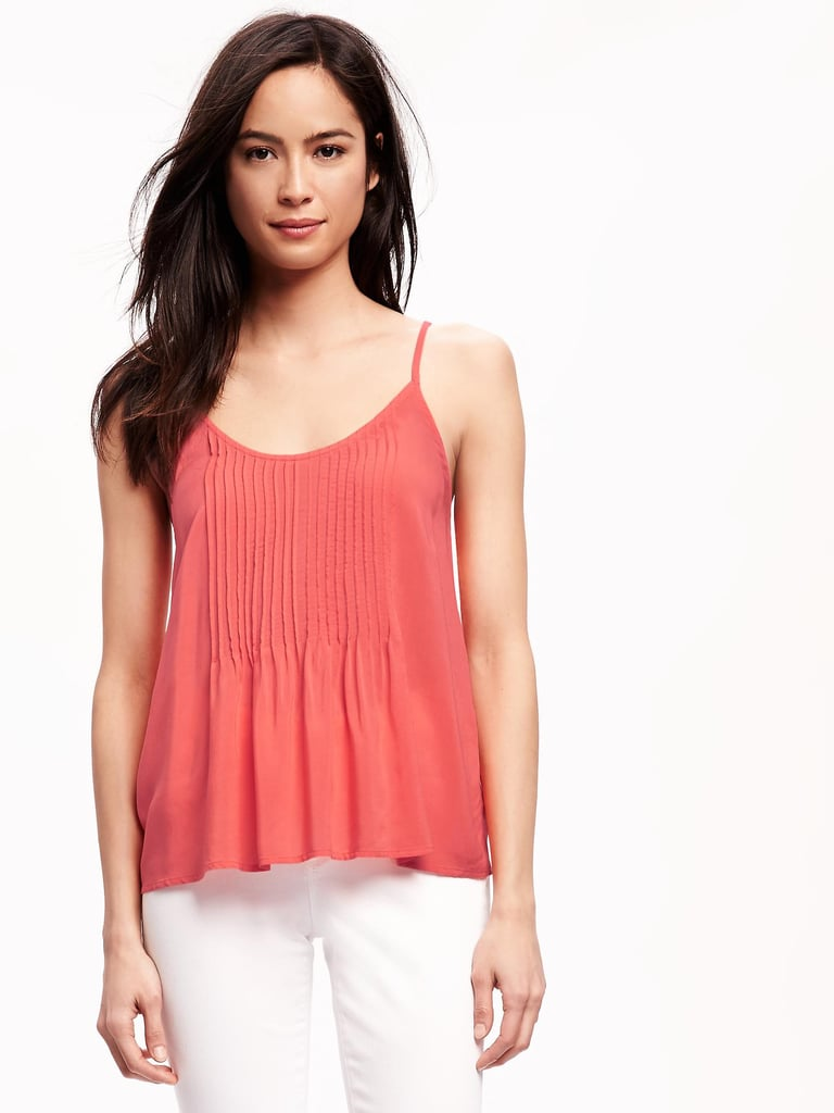 "The Tank: Old Navy Pintuck Swing Tank For Women ($23) The Glowing Review: ""I bought this a few days ago and I love it!!! The fit, the color, everything!!!"""