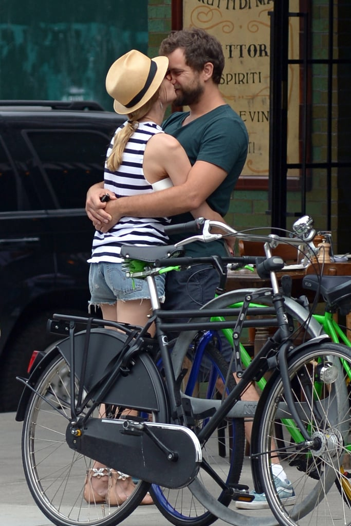 Diane and Josh couldn't keep their hands off each other in Manhattan in July 2015.