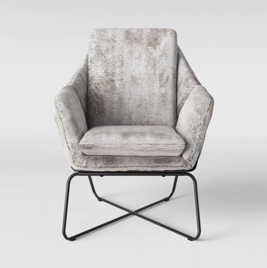 Project 62 Massey Faux Fur Metal Base Accent Chair