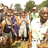 Buddy Guy wandering through the crowd in 2006.