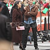 Ann Curry shook a finger at Robert Pattinson in NYC.