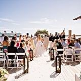 The Caribbean Sea (and the Disney Dream) served as the beautiful backdrop for the ceremony.