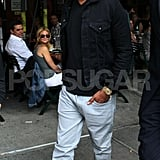 Jay-Z left Bar Pitti in NYC.
