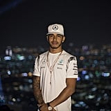 Lewis Hamilton Practices Ahead of Abu Dhabi Grand Prix Race