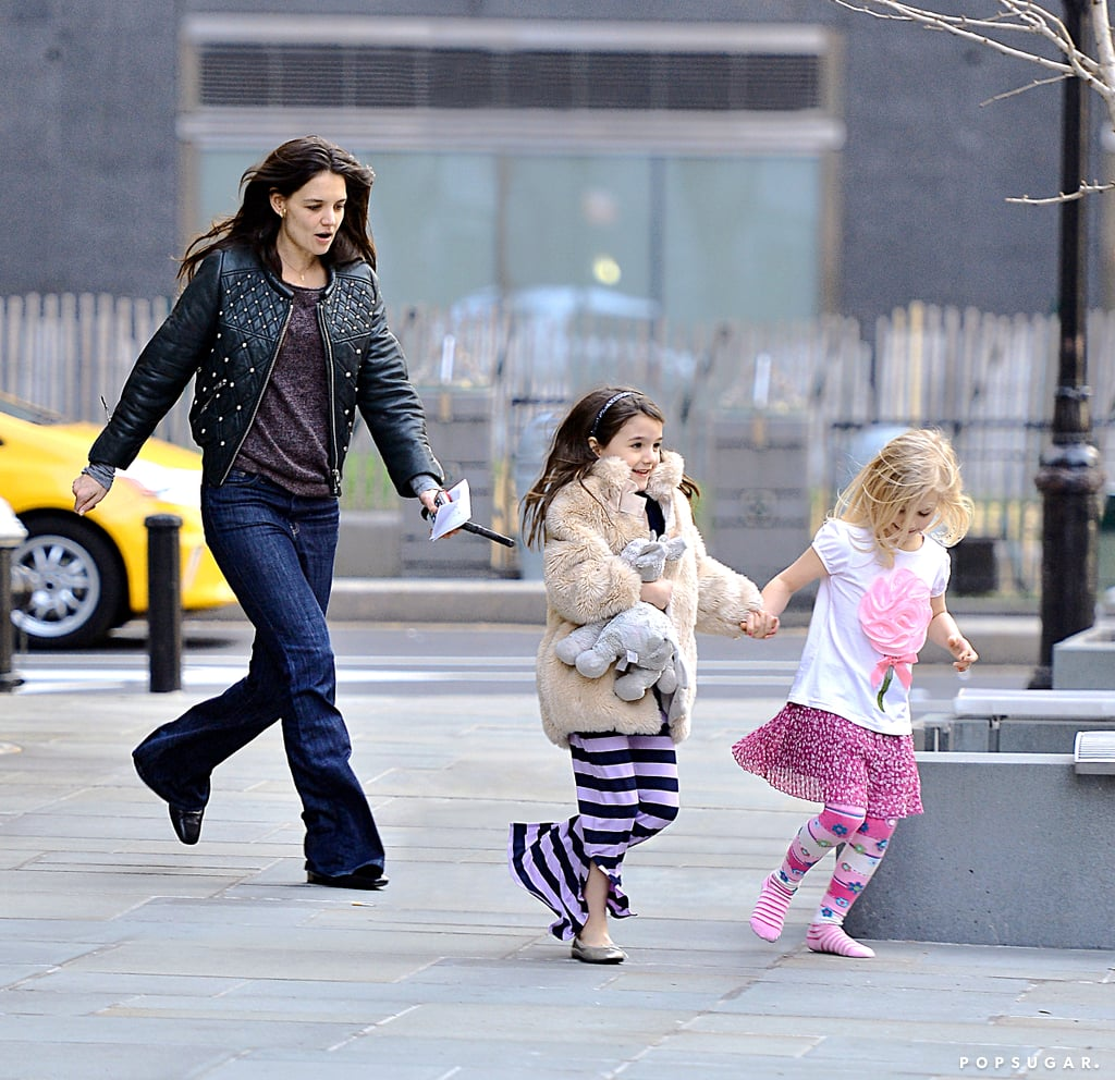 Katie Holmes takes Suri Cruise on a playdate with a friend.