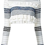 Stella McCartney cropped striped frill jumper