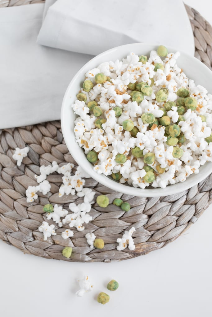 Brown Sugar Popcorn With Wasabi Green Peas
