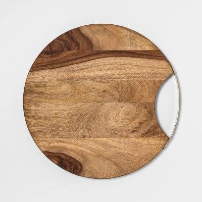 "13"" Sheesham Wood Round Serving Board"