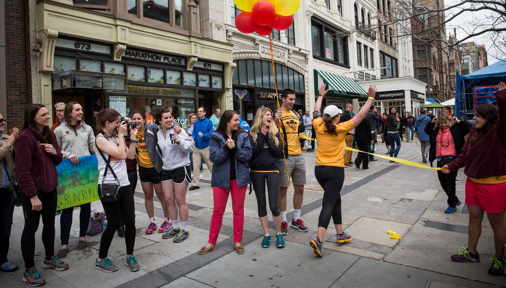 """Boston College students organized a """"bandit marathon,"""" running the route one week before the race."""