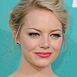Emma Stone wore bright lips for the MTV Movie Awards.