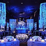 Set the tone for a winter wedding with crystal strands reminiscent of icicles.
