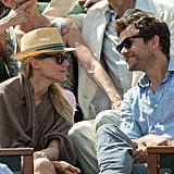 Diane Kruger and Joshua Jackson shared a laugh.