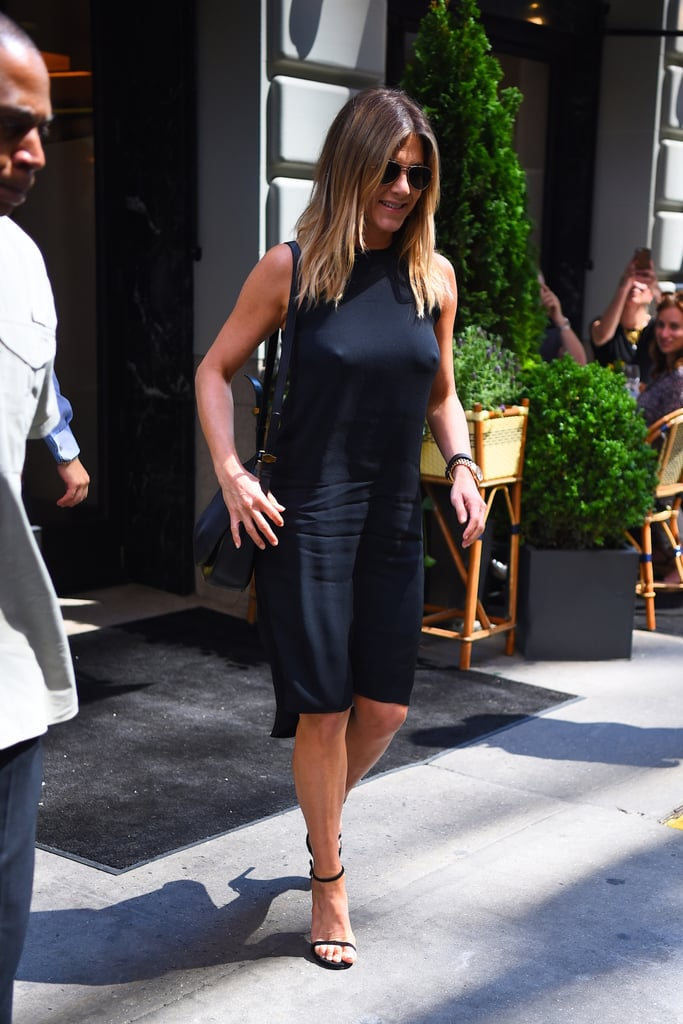 0cfb25594a90 Jennifer Aniston Black Dress June 2016