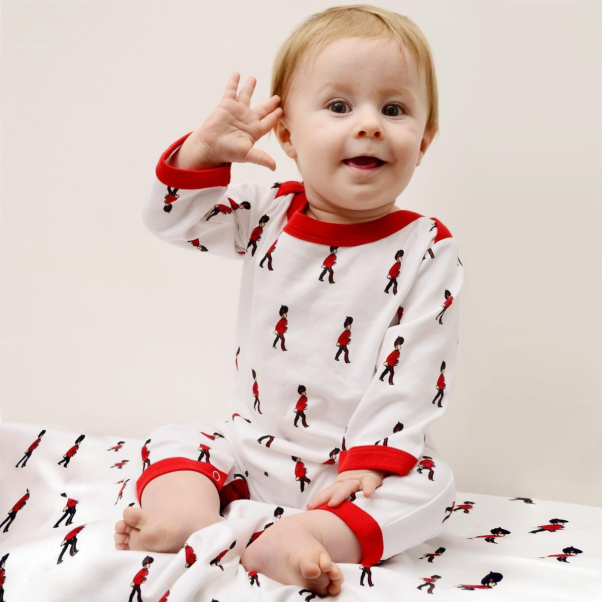 A royal baby could sleep in his or her very own Grenadier Guard Sleep Suit ($34) when dreaming of sitting on the royal throne!