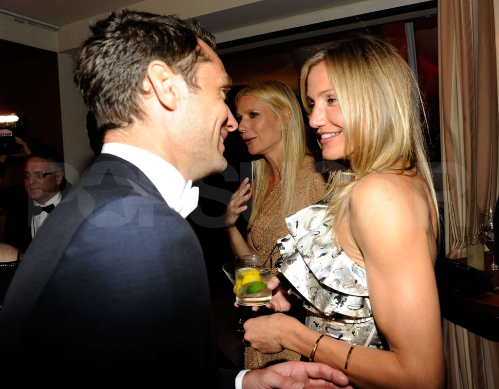 Cameron Diaz Wears a Super Short Dress to Mingle With Gwyneth and Jude at VF Party!