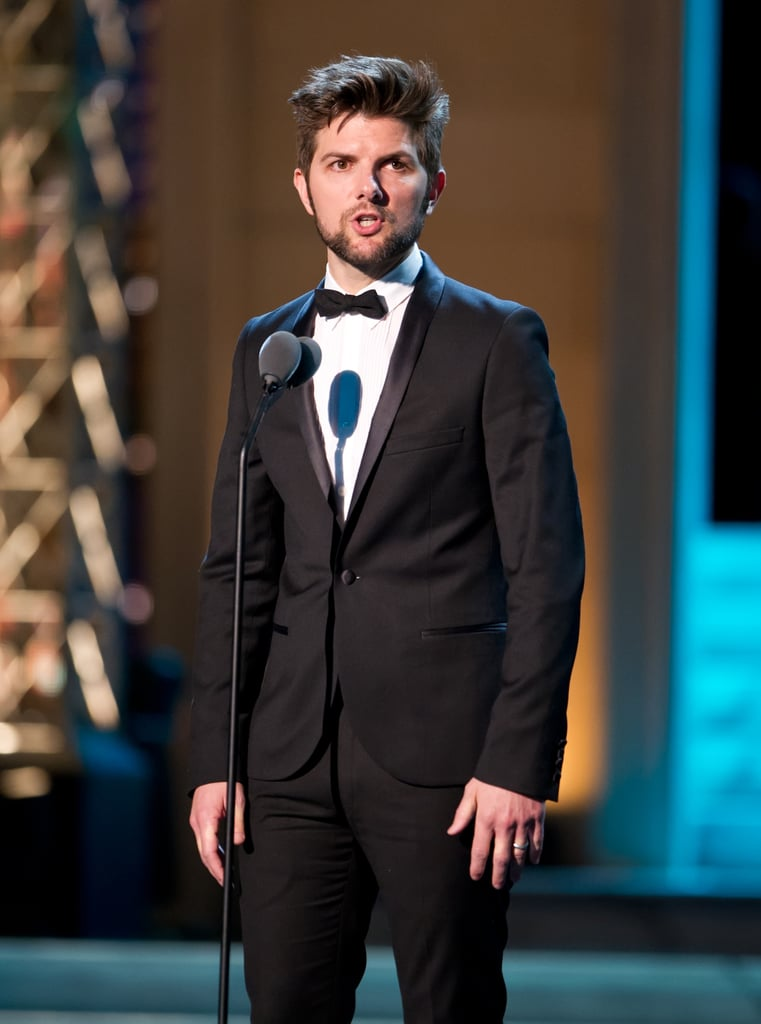Adam Scott wore a tux on stage at the Comedy Awards in NYC.