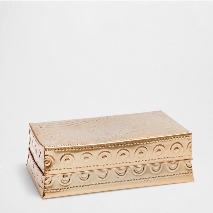 brass lidded box 25 originally 50 zara home sale 2016 popsugar home photo 6. Black Bedroom Furniture Sets. Home Design Ideas