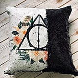 Deathly Hallows Black Sequins Pillow